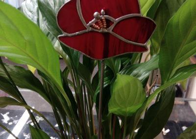 Zápich - makový květ