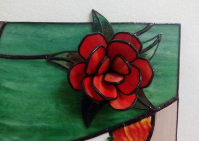 Detail - 3D květina
