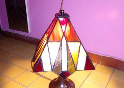 Lampa panelová - z kurzů (vlastní návrh studentky)