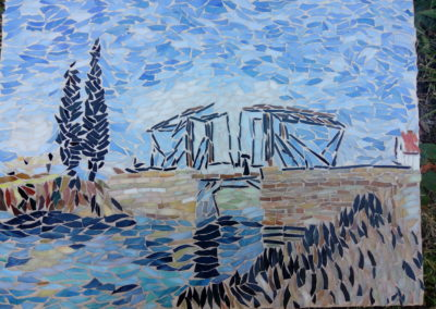 Skleněná mozaika - předloha Most přes Arles - Vincent van Gogh