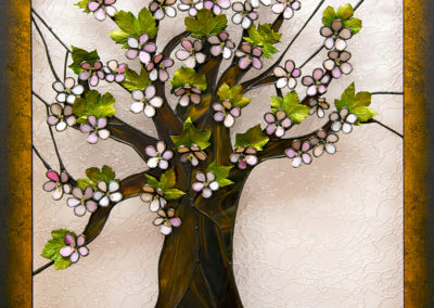 Strom života - 3D tiffany vitráž + galvanoplatika